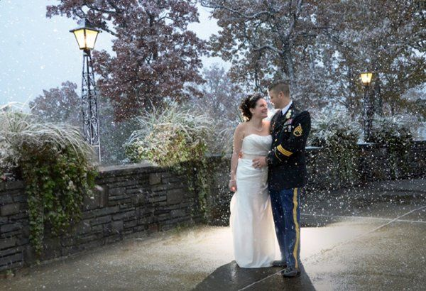 Snowy October Wedding Albany CC