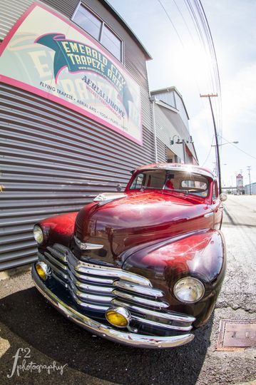 Emerald City Trapeze has their very own classic car! Decked out in stunning fire-colors, this...