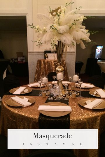 Feather and flower centerpiece