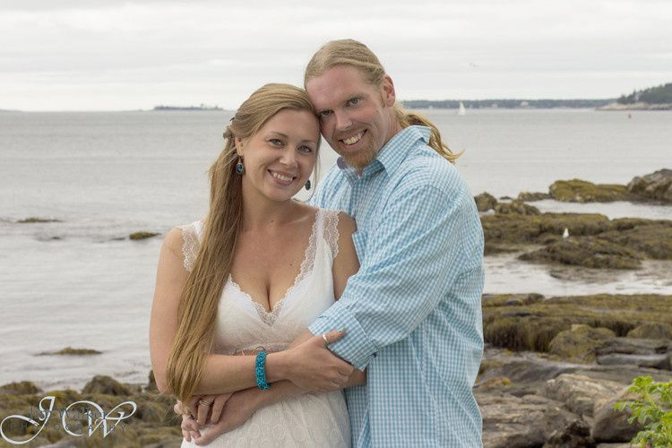 Ashley and Thomas were married at the Wilson Memorial Chapel in East Boothbay, Maine, with...