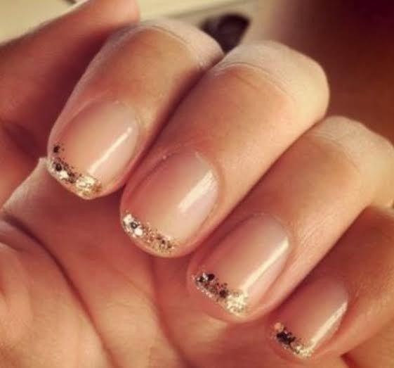 mani french glitter