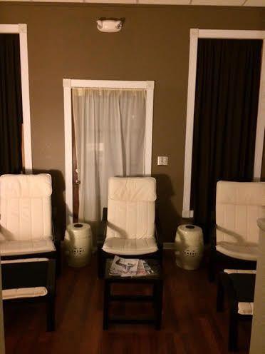 spa waiting curtains