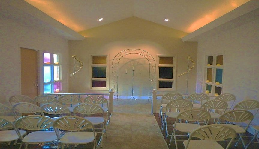 Our wedding chapel. We can decoate it to your specifications or you can decorate this beautiful...