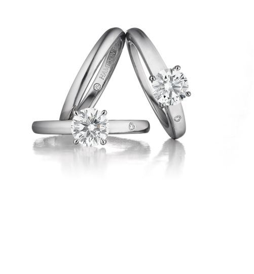 Simple silver ring with diamond