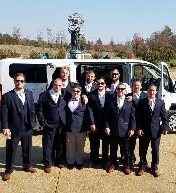 Great Customers arriving on The USA Wedding Shuttle at The 2400 On The River, Calhoun, GA.
