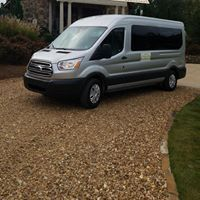 One of our nice vans from USA Wedding Shuttle