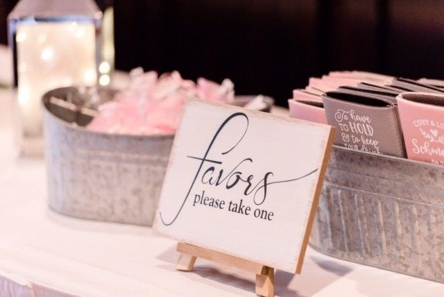 Gift and Favors Table