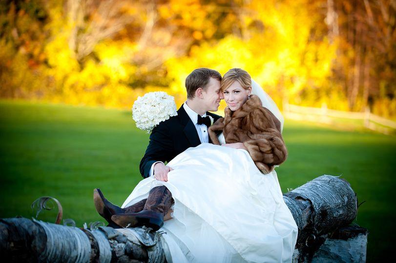 Bride in Cowboy boots & Fur