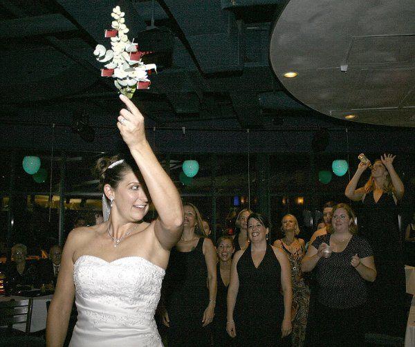 Bride Throwing her Flowers