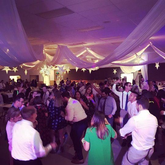 The dance floor is packed!