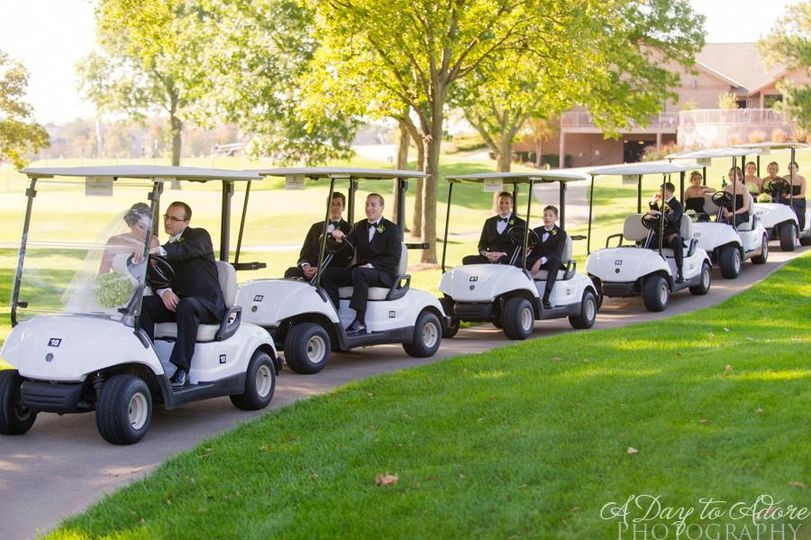 Golf cart wedding