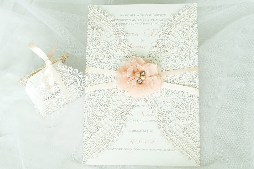 Flower and lace cover