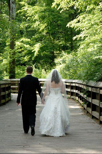 Couple stroll