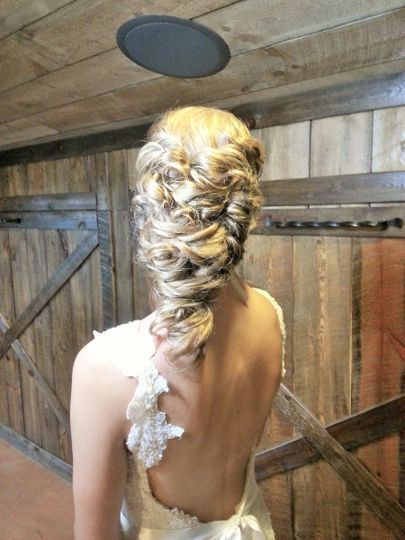 Braided hair for wedding