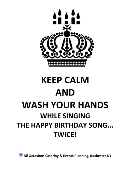 We wash our hands - a lot!