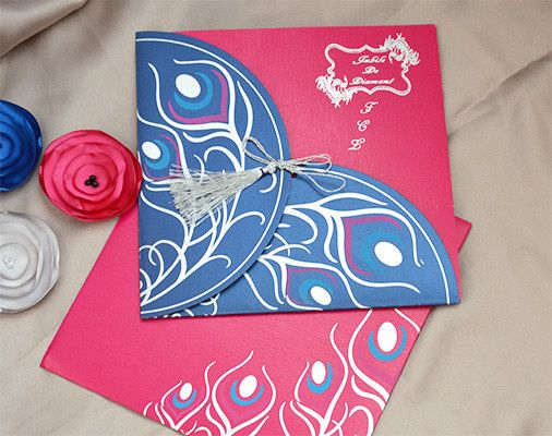 Peacock theme invitations. Customizing the invitations in your color, theme and more details please...