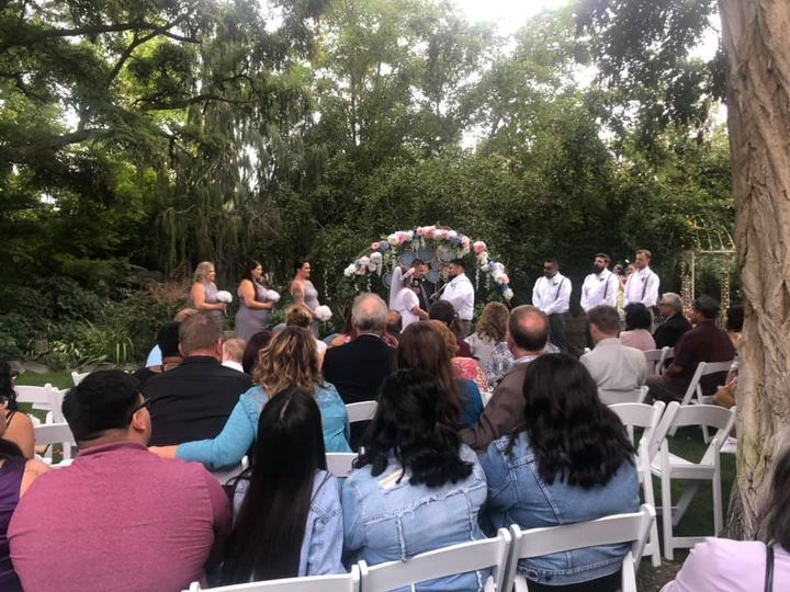 An intimate outdoor ceremony