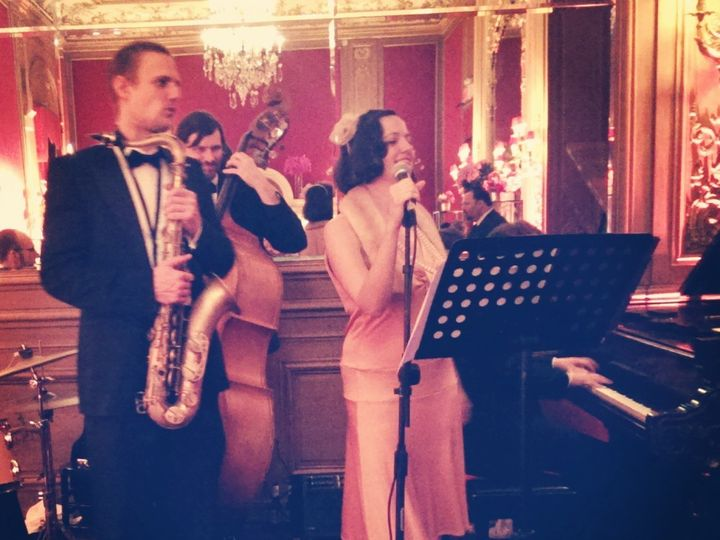 Tmx 1415073254360 Nightingale At Metropolitan Club Brooklyn wedding band