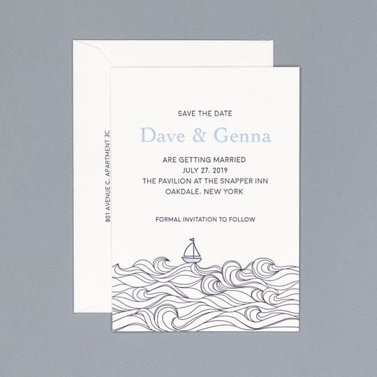 The nautical save the date