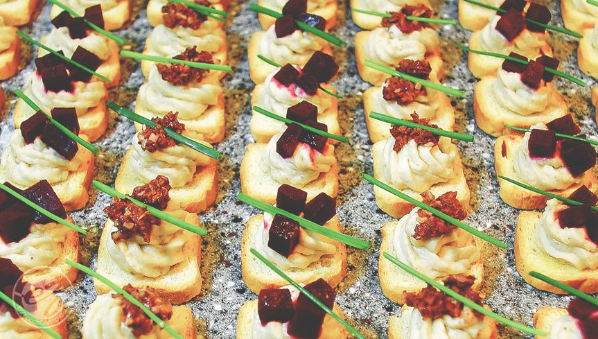 Crostinis made from fresh local ingredients.  A great way to add unique flavors in bite sized...