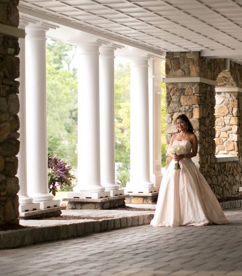 Bride walking down the driveway