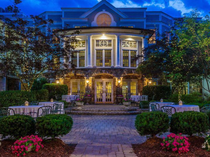 Tmx 1490470991975 Twilight In The Olde Mill Inn Courtyard 2 Basking Ridge, NJ wedding venue