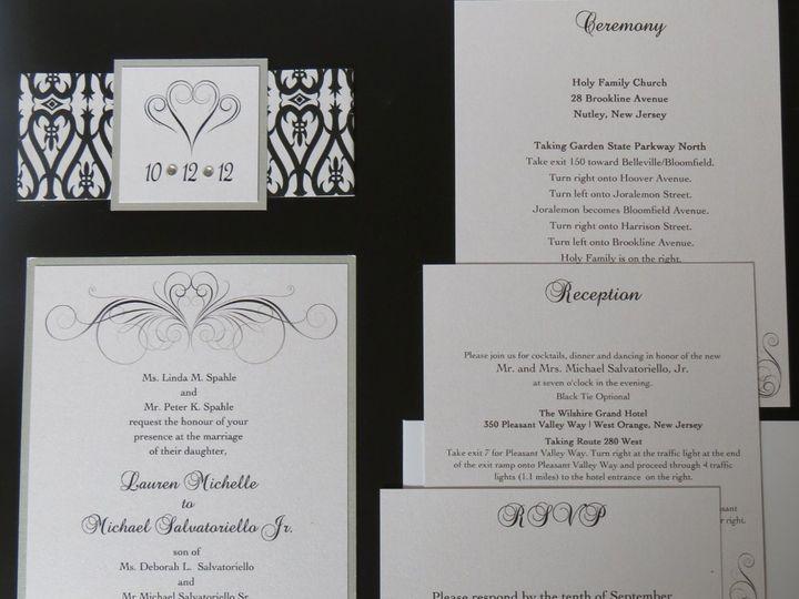 Tmx 1358198573191 IMG0067 Roseland wedding invitation