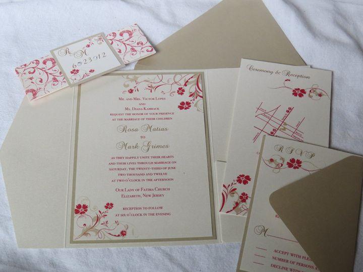Tmx 1358198913572 IMG0078 Roseland wedding invitation