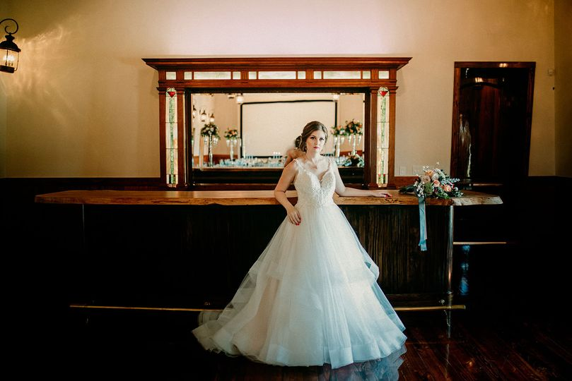 Bride in a ball gown