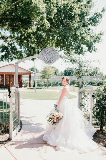 Bride entering the gates