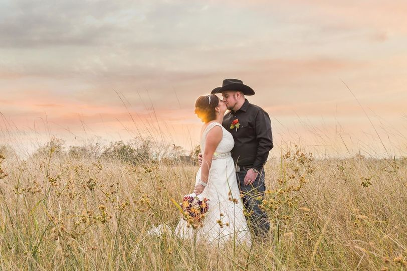 Sunset Photos at Binders Gardens with Fall Wedding