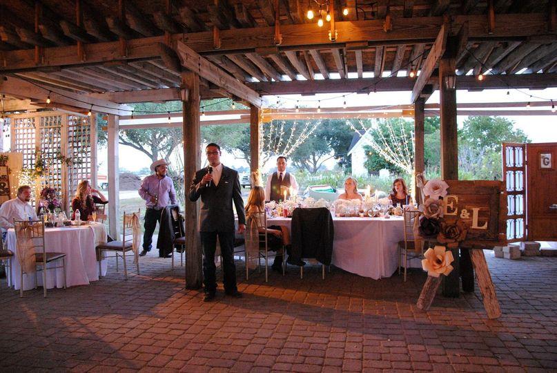 Speeches under Open Barn