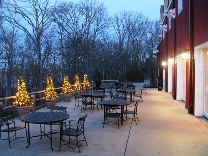Lodge Patio at Christmas