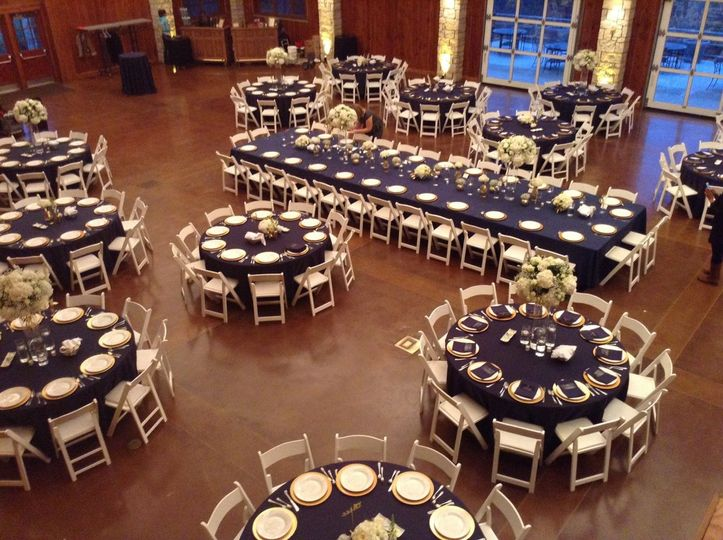 Reception with Rented Chairs