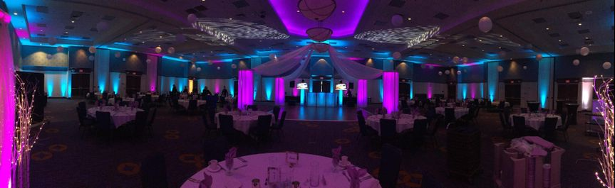 Uplighting for your event.
