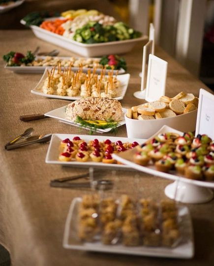 Array of hors d'oeuvres