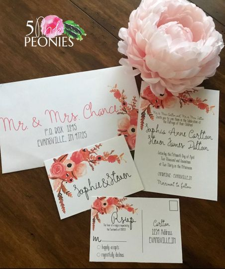 Wedding Invitations Indianapolis: Evansville, IN