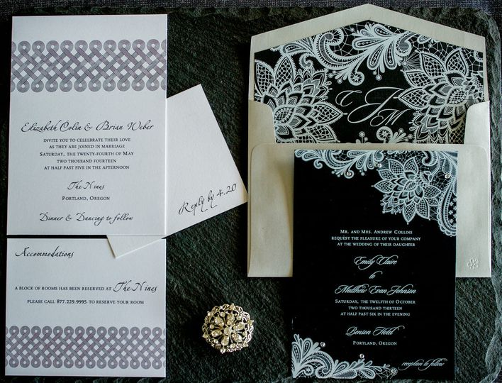800x800 1437421470629 Black White Custom Invitation By 1st Comes Love