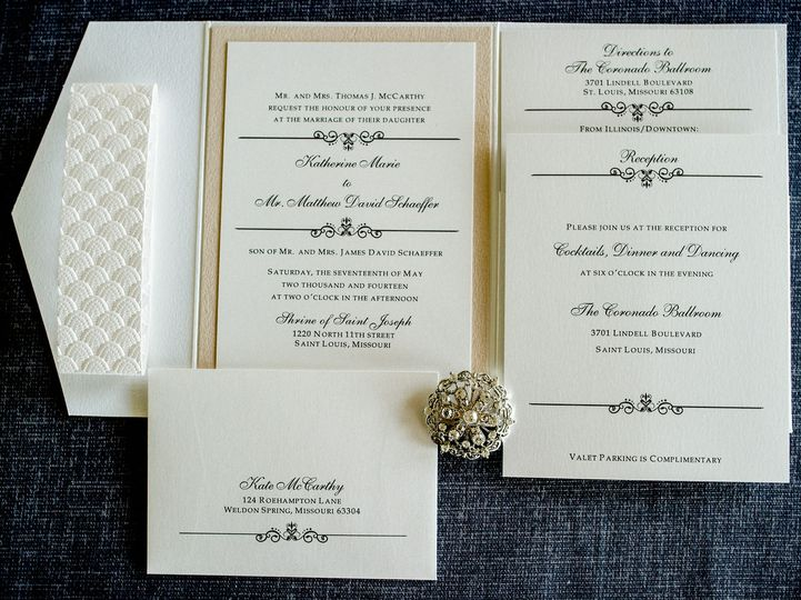 classic embossed belly band wedding invitation by