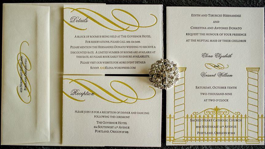 classic letterpress custom invitation by 1st comes