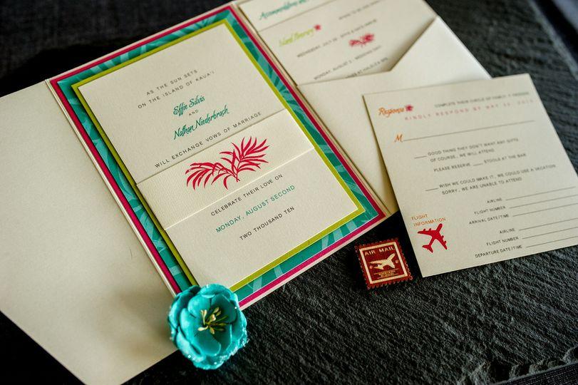 destination wedding pocketfold details by 1st come