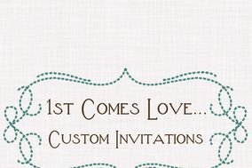 1st Comes Love... Custom Invitations