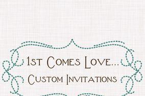 1st Comes Love... Custom Invitations