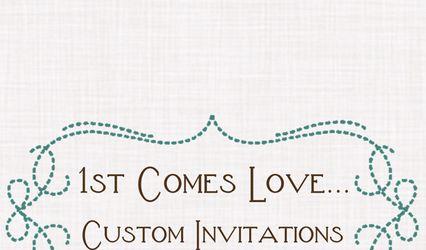 1st Comes Love... Custom Invitations 1