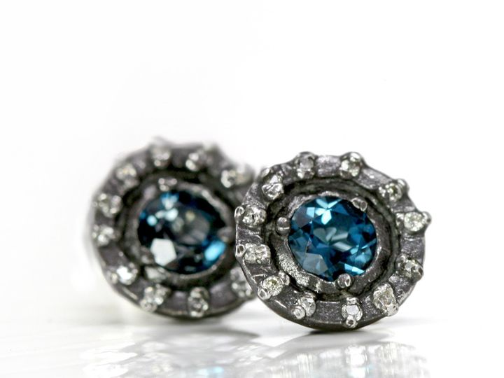 Tmx 1368315983098 Londonbluehaloearrings1 North Andover wedding jewelry