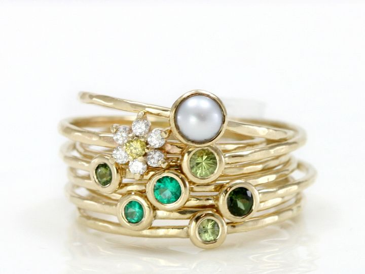 Tmx 1368905106992 Greenringstack1 North Andover wedding jewelry