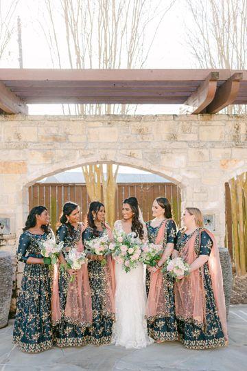 Bride & Bridesmades