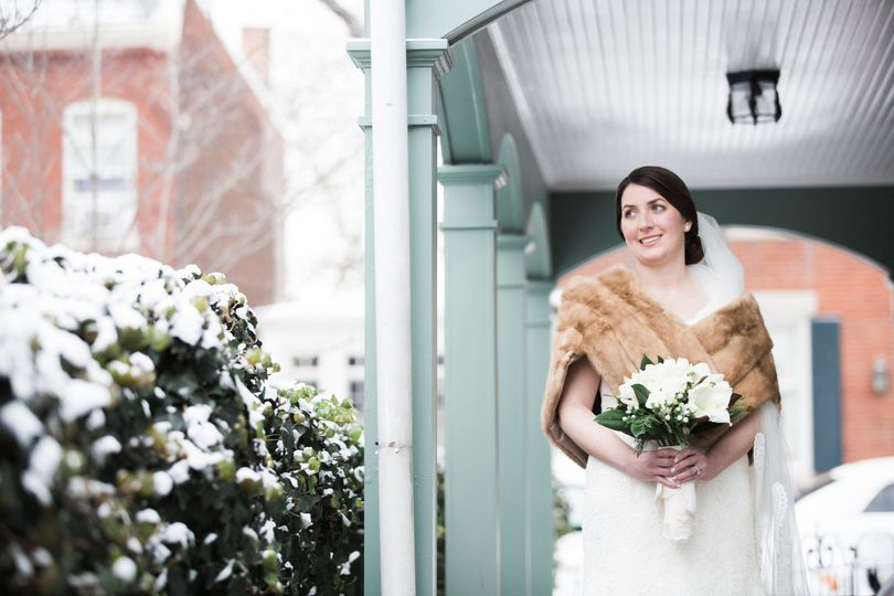 Snowy Wedding in Old Town