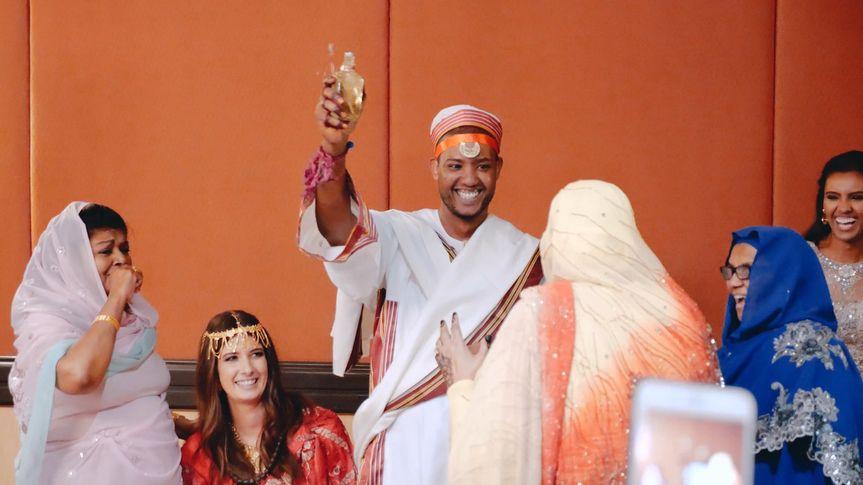 Muslim weddings are colorful