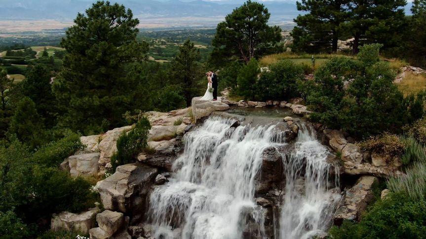 Waterfall Drone Shot
